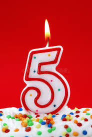 number birthday candles number five birthday candle stock photo image of color