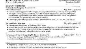 Cs Resume Template Senior Resume Example Senior Cs Resume Relevant Experience