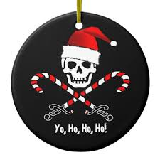 pirate flag yo ho ho santa ornament zazzle