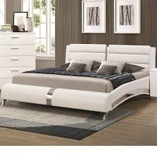 King Bedroom Set Overstock Amazon Com Coaster 300345kw White California King Size Bed With