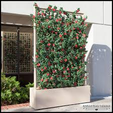 3 u0027l azalea trellis artificial indoor space divider in fiberglass