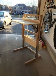 Diy Sit Stand Desk by Convertible Standing Sitting Desk For 200 12 Steps With Pictures