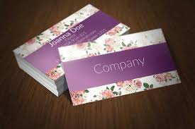 Purple Business Cards 20 Floral Business Cards Free U0026 Premium Templates