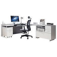 Modern Desk Set Bdi Centro Executive L Desk Modern Office Set Eurway