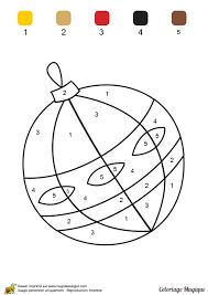 Coloriage magique niveau CP une chouette boule de Noël