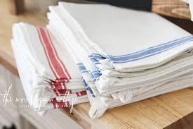 striped kitchen tea towels grain cottage shop