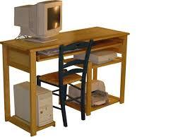 bureau ordinateur bois bureau informatique en bois bureau ordinateur