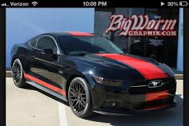 Mustang Red And Black Ford Mustang 2015 Gt Black And Single Red Stripe Black Pegasus