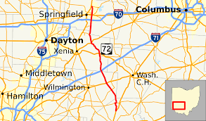Dayton Map Ohio State Route 72 Wikipedia