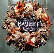 Halloween Wreath Ideas Front Door Fall Wreath Gather Together Craft Ideas Pinterest Wreaths