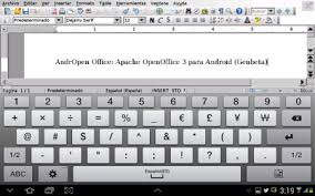 openoffice for android andropen office la versión de apache openoffice para android