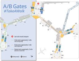 Las Vegas Airport Terminal Map by Fit Travel Tips Walking Routes Enroute Business Travel Life