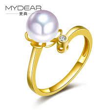 best pearl rings images Mydear fine pearl jewelry women latest design boho 8 5 9mm white jpg