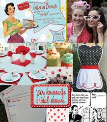 Kitchen Shower Ideas Iw 50s Housewife Bridal Shower Ideas Bridal Showers Retro And