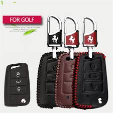 Cover Bag Polo Genuine Leather Car Styling Key Cover Bag For Volkswagen Vw