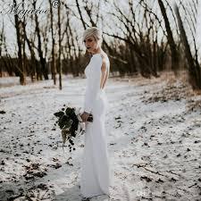 plain wedding dresses 2017 simple sleeve open back plain wedding dress