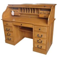 Small Oak Roll Top Desk 1920s Solid Oak Roll Top Desk With Recessed Panels And Five For