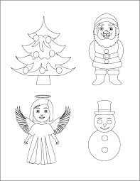 coloring pages christmas objects