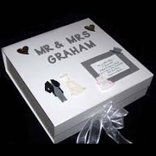 Wedding Gift Experiences Personalised Wedding Memory Box Silver Large The Gift Experience