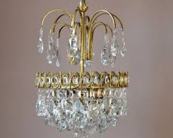 Lead Crystal Chandelier Mini Vintage Crystal Chandelier Antique French Vintage