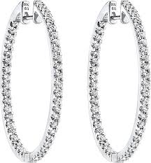 white gold diamond hoop earrings white gold diamond hoop earrings andino jewellery