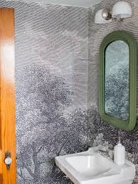 wallpaper bathroom ideas how to install wallpaper in a bathroom hgtv