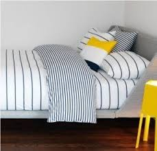Blue Striped Comforter Set Stripe Bedding Sets Foter