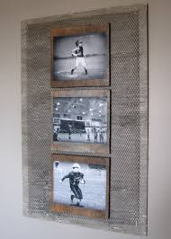 Cool Bedroom Wall Collages Diy Industrial Boys Room Wall Photo Collage I Antigued An Old