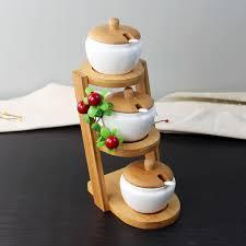 stairs design ceramic seasoning jar set decorative porcelain