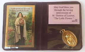 Prayer To St Therese The Little Flower - little flower prayer pouch society of the little flower us