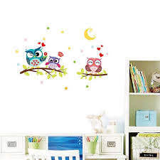 Nursery Owl Wall Decals Removable Tree Owl Wall Decals Bedroom Baby Nursery Stickers