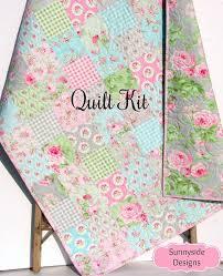 shabby chic quilt kit tanya whelan charlotte precut squares