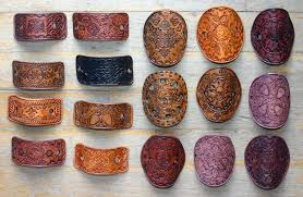 hair barettes leather hair barrettes by eclectixx on deviantart