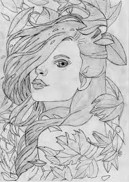 awesome sketches to draw of girls drawing art library
