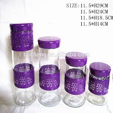purple canisters for the kitchen stainless steel canisters sets kitchen tea coffee sugar