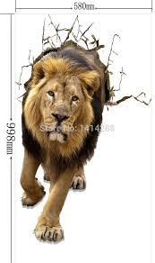 aliexpress com buy wall paintings 3d three dimensional wall aliexpress com buy wall paintings 3d three dimensional wall stickers lion wall sticker home hotel wall school decoration for kid gift from reliable school
