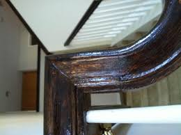 Sanding Banister Stained Banister Doesn U0027t Look Right Please Help Doityourself