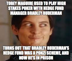 Tobey Maguire Face Meme - tobey maguire gambling scandal as explained by tobey maguire faces