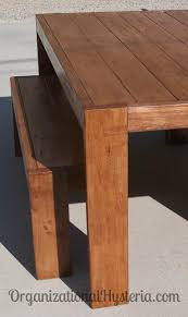 my modern farmhouse table u0026 bench seats diy with plans for the