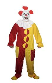 halloween costumes without masks red yellow clown costume halloween fancy dress no mask inc ebay