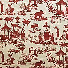 Red Drapery Fabric By The Yard Linen Fabric Waverly Ebay