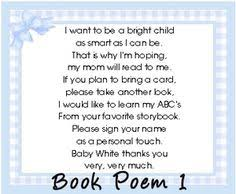 Bring Book Instead Of Card To Baby Shower Custom Insert Card Bring A Book Instead Of A Card By Digitalparty