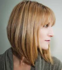 lob haircut with bangs angled bobs with bangs short hairstyles 2016 2017 most