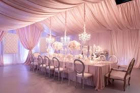 blush silver corporate anniversary dinner party at heaven event pink and white party decor