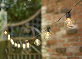 2 in bulbs 50ft black wire outdoor globe string lights wedding