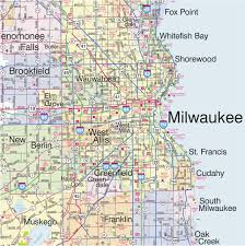 Map Of Wisconsin Cities Image Gallery Milwaukee Map