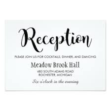 wedding reception cards wedding receptions invitations announcements zazzle