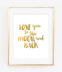 love you to the moon and back printable art baby room decor