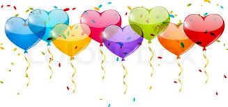 heart balloons heart balloons border for your design stock vector colourbox