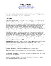 Portfolio Resume Examples by Download Videographer Resume Haadyaooverbayresort Com